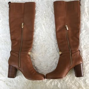 MICHAEL KORS RIDING BOOTS LEATHER HEELS SIZE 6